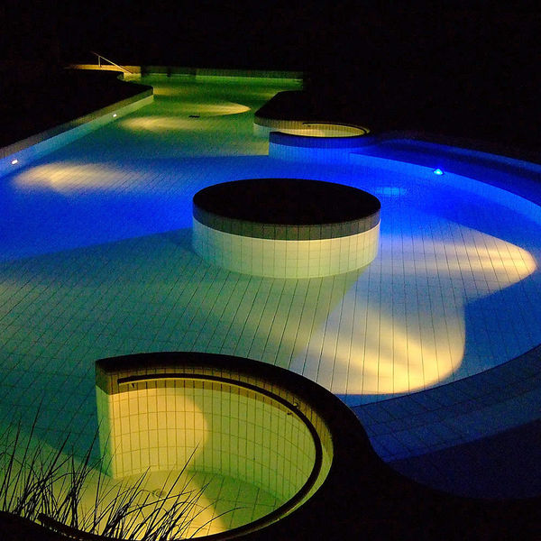 LEd lit pool
