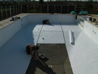 fitting felt underlay to vinyl liner pool
