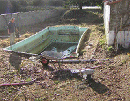 old fibre glass pool