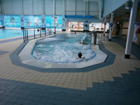 typical commercial stainless steel hydrotherapy pool installation